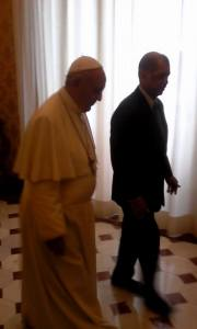 Pope Francis and President James Alix Michel.