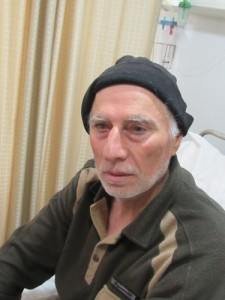 Adnan Adnidihad, 62, a refugee from Iraq, is recovering from psychological problems at the Italian Hospital in Amman, Jordan. (CNS/Mark Pattison)