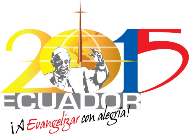 This is the official logo for the July 5-8 visit of Pope Francis to Ecuador. The pope will also visit Bolivia and Paraguay during his July 5-13 trip to Latin America. (CNS photo) See POPE-LATAM (UPDATED) May 8, 2015. EDITORS: 600x425 pixels, best quality available.