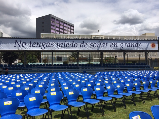The Pontifical Catholic University of Ecuador is ready for Pope Francis, who will speak there July 7. (CNS/Barbara J. Fraser)