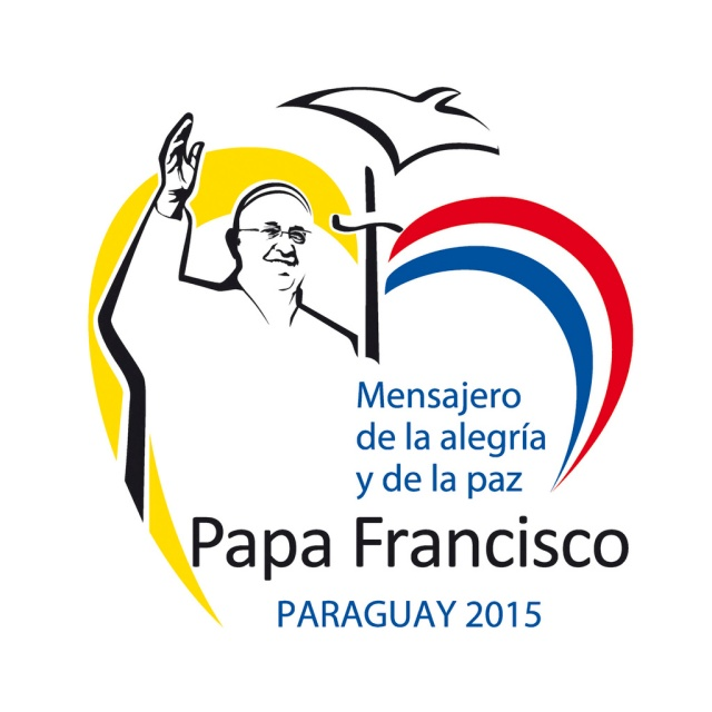 This is the official logo for the July 10-12 visit of Pope Francis to Paraguay. The pope will also visit Ecuador and Bolivia during his July 5-12 trip to Latin America. (CNS photo) See POPE-LATAM (UPDATED) May 8, 2015.