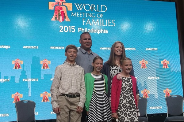 The Bowes family will greet Pope Francis when he lands in Philadelphia Saturday. (CNS photo/Laura Ieraci)