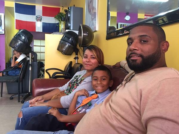 Juan Martinez, Katiria Michel, and their son Adrian, 8. (CNS photo/David Agren)