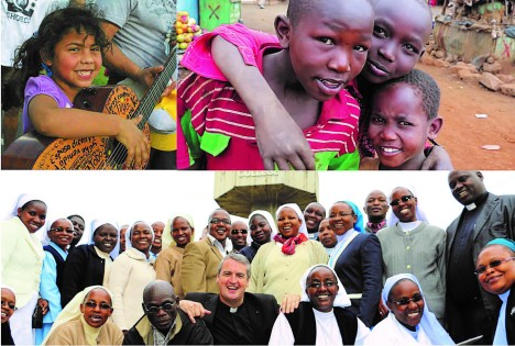 Three different causes have been chosen for the JokeWithThePope contest, but more causes will be available on the new Mission App. (Photos courtesy Pontifical Mission Societies.)
