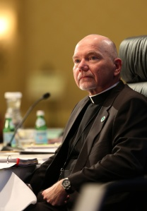 Msgr. Ronny E. Jenkins, who is general secretary of the U.S. Conference of Catholic Bishops, listens to a speaker Nov. 10 during the bishops' annual fall general assembly in Baltimore. (CNS photo/Bob Roller) See BISHOPS-ROUNDUP Nov. 10, 2014.