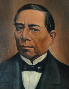 A painting of former President Benito Juarez of Mexico is seen in this 2004 file photo. (CNS photo/Mario Guzman, EPA)