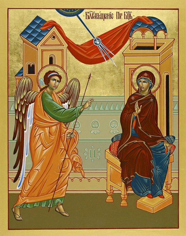 This icon depicting the Annunciation is from St. Josaphat Ukrainian Catholic Cathedral in Edmonton, Alberta. (CNS photo/Western Catholic Reporter)