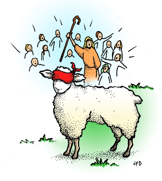 """My sheep hear my voice; I know them, and they follow me."" -- John 10:27"