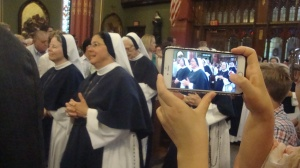 Sister of Life during opening processional Aug. 6. (Photo by Carol Zimmermann)