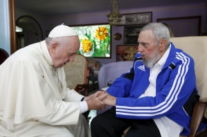Pope Francis and former Cuban President Fidel Castro in Havana in Sept. 20, 2015. (CNS photo/Reuters)